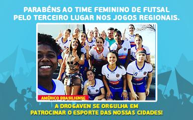 Parabéns ao time feminino de futsal!
